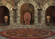 stanza del trono della rappresentazione 3D Fotografie Stock