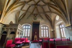 Stanza del trono a Praga fotografia stock libera da diritti