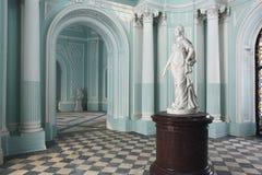 Stanza del turchese al palazzo di Tsarskoye Selo Pushkin fotografia stock libera da diritti
