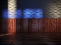 Stanza dell'annata con seta blu illustrazione di stock