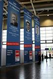 Stanza dell'entrata nell'Expo del calcolatore di CEBIT Fotografie Stock