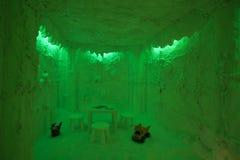 Stanza della caverna del sale nel verde Immagini Stock