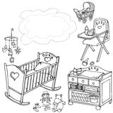 Stanza 90 90 della nuvola del bambino illustrazione di stock