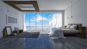 stanza della spiaggia 3ds Fotografia Stock Libera da Diritti