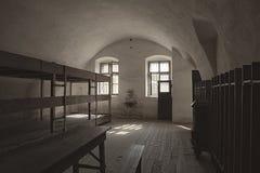 Stanza delle caserne in Terezin Fotografia Stock Libera da Diritti