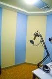 Stanza dello studio di registrazione Immagini Stock Libere da Diritti