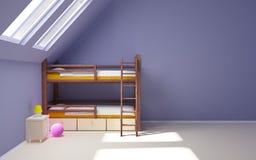 Stanza di bambino sulla soffitta Immagine Stock Libera da Diritti