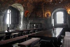 Stanza di banchetto nel castello di Dunguaire Fotografie Stock