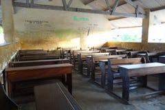 Stanza di classe in piccolo villaggio a Zanzibar Fotografia Stock Libera da Diritti