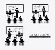 Stanza di classe, progettazione, illustrazione di vettore Immagine Stock
