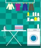 Stanza di lavaggio Immagini Stock Libere da Diritti