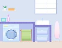 Stanza di lavanderia illustrazione vettoriale
