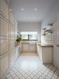 Stanza di lavanderia tradizionale classica luminosa Fotografia Stock Libera da Diritti