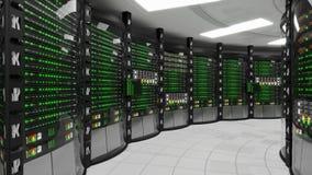 Stanza di lavoro moderna del server illustrazione di stock