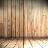 Stanza di legno Fotografia Stock