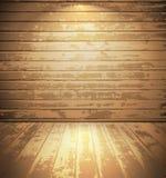 Stanza di legno leggera Immagini Stock