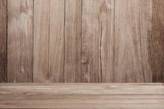 Stanza di legno marrone chiaro dell'interno delle plance jpg Fotografia Stock Libera da Diritti