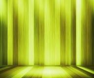 Stanza di legno verde dei comitati fotografia stock libera da diritti