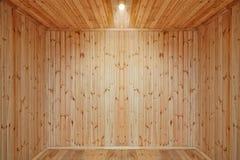 Stanza di legno vuota fotografie stock