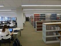 Stanza di lettura dell'università Immagine Stock