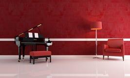 stanza di lusso di musica Fotografia Stock
