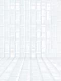 Stanza di mattonelle di ceramica bianca delle mattonelle, fondo immagine stock libera da diritti