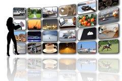 Stanza di media Fotografia Stock