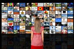 Stanza di media Immagine Stock