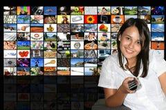 Stanza di media Fotografia Stock Libera da Diritti