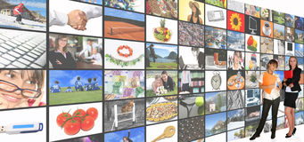 Stanza di media Fotografie Stock