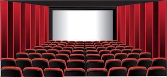 Stanza di mostra rossa; cinematografo Immagini Stock Libere da Diritti