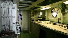 Stanza di pianificazione della nave da guerra archivi video