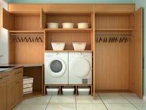 Stanza di progettazione per lavare e pulire Fotografia Stock Libera da Diritti