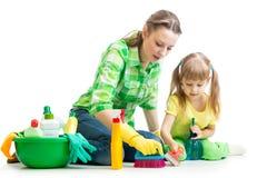Stanza di pulizia del bambino e della madre Fotografie Stock Libere da Diritti