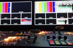 Stanza di radiodiffusione della televisione Immagine Stock Libera da Diritti