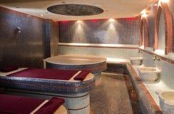 Stanza di sauna del vapore Fotografie Stock Libere da Diritti