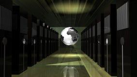 Stanza di web server illustrazione di stock