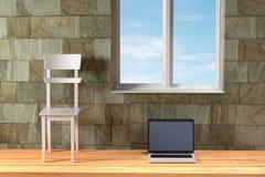 Stanza di Windows Immagine Stock