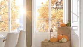 Stanza dinning del nordico in un appartamento rappresentazione 3d Concetto di ringraziamento HD