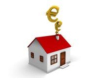 Stanza e casa di campo di affari dell'appartamento ed euro Immagine Stock