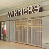 Stanza frontale di negozio dei vincitori immagine stock libera da diritti