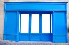 Stanza frontale di negozio, negozio, facciata, parte anteriore generica in bianco del deposito Immagine Stock