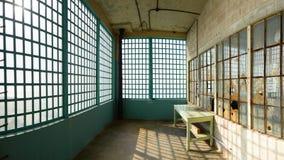 Stanza industriale abbandonata Fotografia Stock