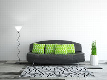 Stanza interna con il sofà royalty illustrazione gratis