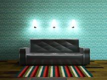 Stanza interna con il sofà Fotografia Stock Libera da Diritti