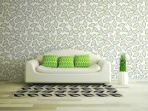 Stanza interna con il sofà Fotografie Stock