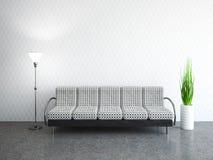 Stanza interna con il sofà Fotografia Stock