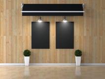 Stanza interna con l'immagine Fotografie Stock Libere da Diritti