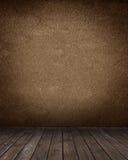 Stanza interna con le mattonelle di legno Fotografia Stock