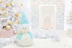 Stanza interna decorata nello stile di Natale Immagine Stock Libera da Diritti